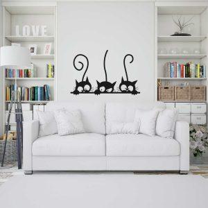 wall sticker gatos cats copiamais viana do castelo mod60