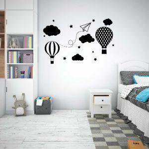 Wall sticker balão ar quente criança cópia+ viana do castelo mod.63