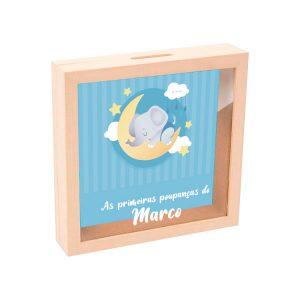 mealheiro caixa madeira com vidro as primeiras poupanças mod.16