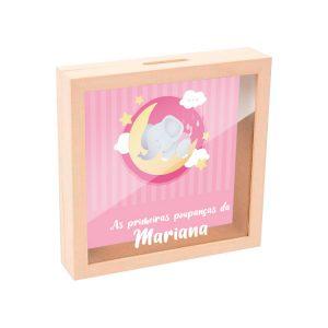 mealheiro caixa madeira com vidro as primeiras poupanças mod.17