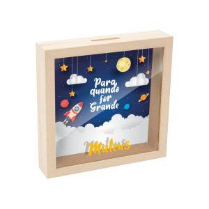 mealheiro caixa madeira com vidro para quando for grande mod.18