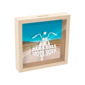 mealheiro caixa madeira com vidro para uma mota nova mod.19