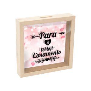 mealheiro caixa madeira com vidro para o nosso casamento mod.21